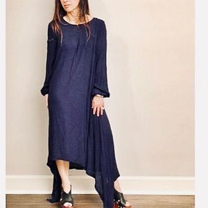 Dresses & Skirts - ✨LAST ONE ✨Navy blue asymmetrical loose fit dress